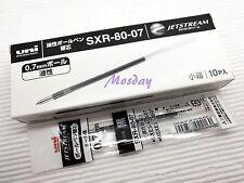 10 x Uni-Ball Jetstream SXR-80-07 Ballpoint Pen Refills, BLACK