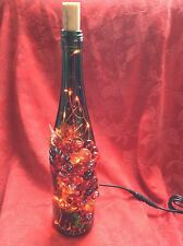 NEW Bling LIGHTS LAMP Electric CORCORAN VINEYARD Cork Empty WINE BOTTLE Red LEDs