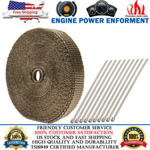"Titanium Manifold Exhaust Wrap Header Pipe Heat Insulation Tape Roll 1"" x 50 FT"