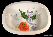 Raynaud Ceralene Limoges PAVOT Poppy Oval Vegetable Serving Bowl