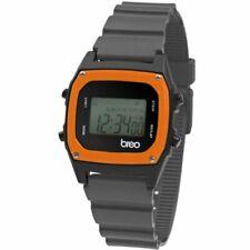Reloj Digital Breo binario B-TI-BIN91 Retro Unisex Gris/Negro/Naranja