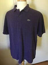 Lacoste Mens Polo Shirt Size 8 XXXL Purple Short Sleeve Logo Cotton