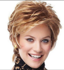 High temperature silk wig female short hair fluffy curly rose