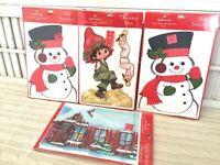 VTG NOS 4 Hallmark Stand-Up Home Decorations Christmas Snowman Drummer Boy Night