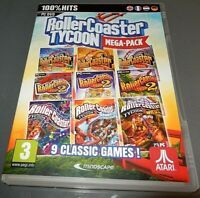 ROLLERCOASTER TYCOON MEGA PACK  1.2 ,3  NINE RCT games   VGC