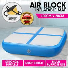 1m Air Track Block Tumbling Mat Gymnastics Exercise Blue