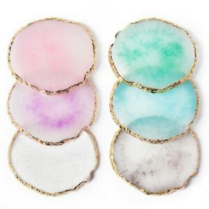 [UK] Resin Agate Stone Coaster Tray Jewellery Display Plate Necklace Ring