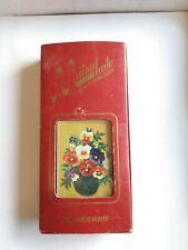 Vintage New NOS Matsuhato Bunka Embroidery Kit #319 Pansies Tokiwa Handicraft Co