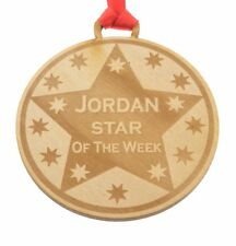 Personalised Wooden Medal 7cm diameter for Celebrations, Events, Sports, Schools