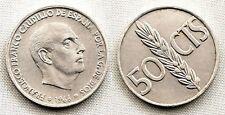 Variante-Estado Español. 50 centimos. 1966*19-68. SC-/UNC- Girada segun foto.