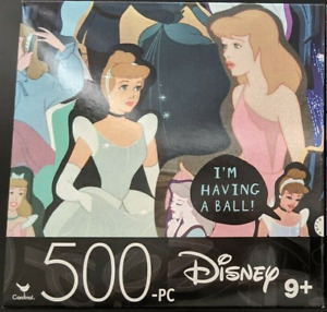 Disney Cinderella Princesses 500-Piece Jigsaw Puzzle 14x11 SAME-DAY SHIP