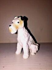 Vintage Rare Bisque Porcelain Standard Miniature Schnauzer Dog Figurine Numbered