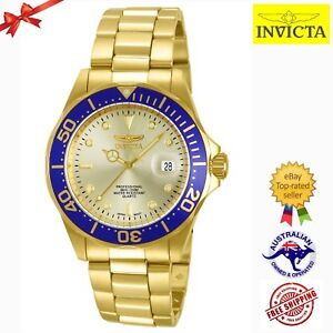 Invicta Men's 14124 Pro Diver 18k Gold Ion-Plated Stainless Steel Watch