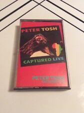 PETER TOSH Captured Live 1984 EMI ORIG REGGAE CASSETTE TAPE ULTRA RARE HTF OOP