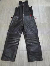 vtg DURATRAK Snowmobile Bibs LEATHER Pants Insulated SMALL Motorcycle 32x32