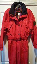 VTG 80s/90s KAELIN Ski Snow Suit One Piece Coveralls Red Women's 12 MINT