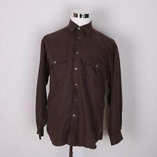 Haggar Black Label Casual Dress Shirt Men's L Long Sleeve