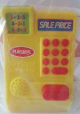 Wendy's Yellow Store Cash Register Cha Ching Noise Kids Meal Toy Playskool 2003