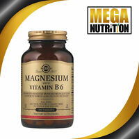 Solgar Magnesium With Vitamin B6 | 250 Tablets | Diet & Food Supplement