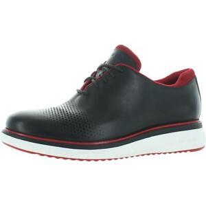 Cole Haan Mens ZEROGRAND Eon Black Leather Oxfords Shoes 11 Medium (D) BHFO 0921