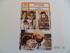 CARTE FICHE CINEMA 1980 JEUX D'ESPIONS Walter Matthau Glenda Jackson