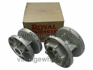 Front & Rear Wheel Hub Assembly Silver Royal Enfield Twins GT & Interceptor 650