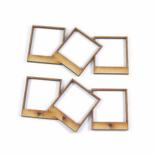Wooden triple photo frame craft blank embellishment scrapbook wedding card gift