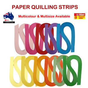 120 Strips Quilling Paper Multi Colour Size Craft Gift DIY Toy Scrapbook AU