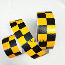 1/5/10/30M Reflective Chequer Chequere Tape Warning Conspicuity Safety Intensity