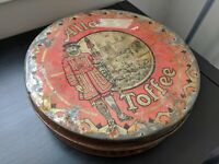"Vintage antique Allen's Toffee ""Supreme"" Tin Container - late Victorian England"