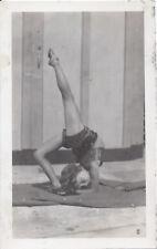 1930s? SNAPSHOT PHOTO YOUNG FLEXIBLE CIRCUS PERFORMER DANCER