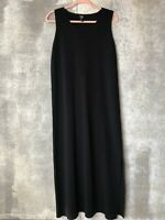 Eileen Fisher Small Black Tank Sleeveless Wool Midi Dress