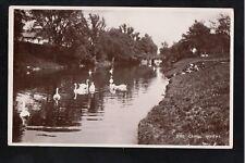 L@@K  The Canal Hythe Kent 1935 RP Postcard ~ SWANS