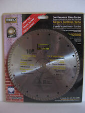 """10"""" MIBRO Industrial Continuous Rim Turbo Diamond Blade for Dry/Wet Cutting"""