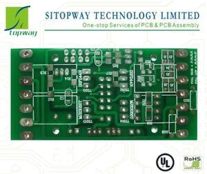 pcb board manufacture fabricate etching 2L 5x5cm 10pcs