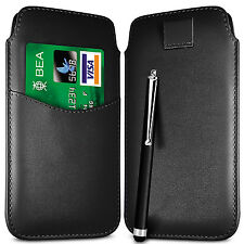 CARD SLOT PU LEATHER PULL FLIP TAB CASE & STYLUS PEN  FOR BLACKBERRY SETS