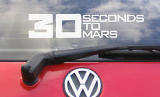 """8"""" Wide 30 Seconds To Mars TEXT Vinyl car sticker/decal- music CD t shirt label"""
