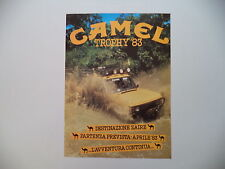advertising Pubblicità 1983 CAMEL TROPHY 83 ZAIRE