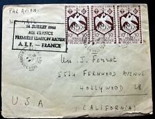 AEF to FRANCE *14 JULY 1943 Air France PREMIERE LIAISON