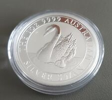 1oz (OUNCE) FINE SILVER .999 PERTH MINT 2018 SWAN COIN LOW MINTAGE IN CAPSULE