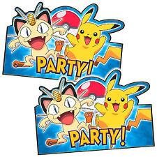 8 POKEMON Pikachu & Friends Children's Birthday Party Invitations plus Envelopes
