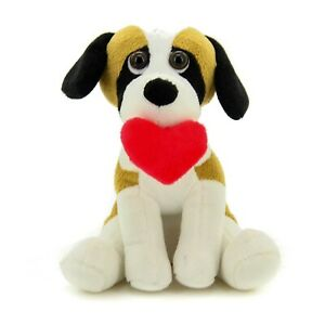 Plushland Cute Puppy Dog with Red Heart for Valentine's Day 10 inches Beagle