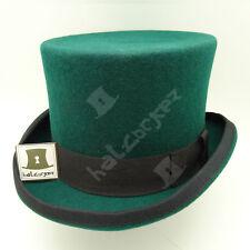 CLASSIC Wool Felt Men Top Hat Tuxedo Victorian Gentlemen Topper | Green | M L XL