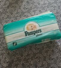 Vintage 1992  Pampers Phases Diapers plastic back Newborn  28 Count New sealed