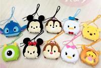 cute Mickey minnie pooh tigger plush shoulder bag coin money cards anime bags