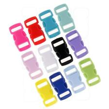 36pcs Resin Side Quick Release Safety Buckles Adjusting Clips Mixed Colors