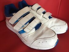 Adidas white Velcro trainers size 5
