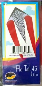 Brand New! Flo Tail 45 Kite Delta 33033 Red Op Art Premier Kites
