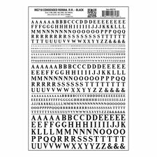 Letters Dry Transfer Sheet, Condensed Roman RR Black Dt Woodland Scenics MG718