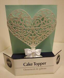 Wilton Filigree Heart Cake Topper / Wedding Ornament